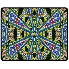 Kaleidoscope Background Double Sided Fleece Blanket (medium)