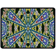 Kaleidoscope Background Double Sided Fleece Blanket (large)