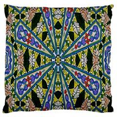 Kaleidoscope Background Large Flano Cushion Case (two Sides)