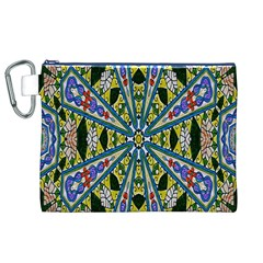 Kaleidoscope Background Canvas Cosmetic Bag (xl)