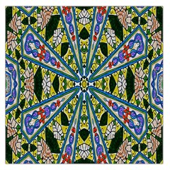 Kaleidoscope Background Large Satin Scarf (Square)