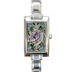 Water Ripple Design Background Wallpaper Of Water Ripples Applied To A Kaleidoscope Pattern Rectangle Italian Charm Watch