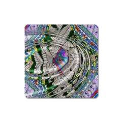 Water Ripple Design Background Wallpaper Of Water Ripples Applied To A Kaleidoscope Pattern Square Magnet