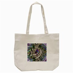 Water Ripple Design Background Wallpaper Of Water Ripples Applied To A Kaleidoscope Pattern Tote Bag (cream)