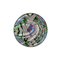 Water Ripple Design Background Wallpaper Of Water Ripples Applied To A Kaleidoscope Pattern Hat Clip Ball Marker (10 Pack)