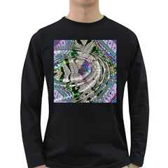 Water Ripple Design Background Wallpaper Of Water Ripples Applied To A Kaleidoscope Pattern Long Sleeve Dark T-Shirts
