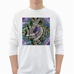 Water Ripple Design Background Wallpaper Of Water Ripples Applied To A Kaleidoscope Pattern White Long Sleeve T-Shirts