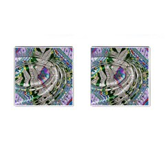 Water Ripple Design Background Wallpaper Of Water Ripples Applied To A Kaleidoscope Pattern Cufflinks (Square)