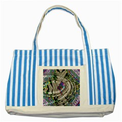 Water Ripple Design Background Wallpaper Of Water Ripples Applied To A Kaleidoscope Pattern Striped Blue Tote Bag
