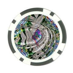 Water Ripple Design Background Wallpaper Of Water Ripples Applied To A Kaleidoscope Pattern Poker Chip Card Guard (10 Pack)