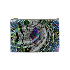 Water Ripple Design Background Wallpaper Of Water Ripples Applied To A Kaleidoscope Pattern Cosmetic Bag (medium)