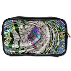 Water Ripple Design Background Wallpaper Of Water Ripples Applied To A Kaleidoscope Pattern Toiletries Bags 2-Side