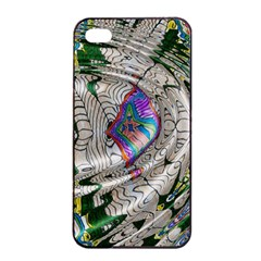 Water Ripple Design Background Wallpaper Of Water Ripples Applied To A Kaleidoscope Pattern Apple Iphone 4/4s Seamless Case (black)