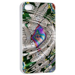 Water Ripple Design Background Wallpaper Of Water Ripples Applied To A Kaleidoscope Pattern Apple Iphone 4/4s Seamless Case (white)