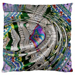 Water Ripple Design Background Wallpaper Of Water Ripples Applied To A Kaleidoscope Pattern Large Cushion Case (two Sides)