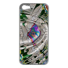 Water Ripple Design Background Wallpaper Of Water Ripples Applied To A Kaleidoscope Pattern Apple iPhone 5 Case (Silver)