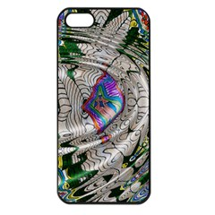 Water Ripple Design Background Wallpaper Of Water Ripples Applied To A Kaleidoscope Pattern Apple iPhone 5 Seamless Case (Black)