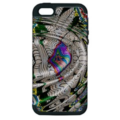 Water Ripple Design Background Wallpaper Of Water Ripples Applied To A Kaleidoscope Pattern Apple iPhone 5 Hardshell Case (PC+Silicone)