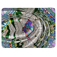 Water Ripple Design Background Wallpaper Of Water Ripples Applied To A Kaleidoscope Pattern Samsung Galaxy Tab 7  P1000 Flip Case