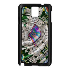 Water Ripple Design Background Wallpaper Of Water Ripples Applied To A Kaleidoscope Pattern Samsung Galaxy Note 3 N9005 Case (black)