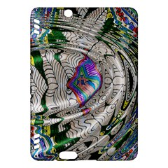 Water Ripple Design Background Wallpaper Of Water Ripples Applied To A Kaleidoscope Pattern Kindle Fire Hdx Hardshell Case