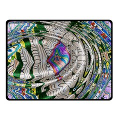 Water Ripple Design Background Wallpaper Of Water Ripples Applied To A Kaleidoscope Pattern Double Sided Fleece Blanket (small)