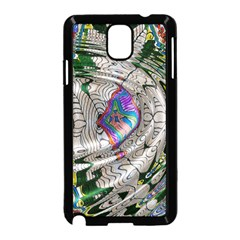 Water Ripple Design Background Wallpaper Of Water Ripples Applied To A Kaleidoscope Pattern Samsung Galaxy Note 3 Neo Hardshell Case (black)