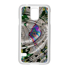 Water Ripple Design Background Wallpaper Of Water Ripples Applied To A Kaleidoscope Pattern Samsung Galaxy S5 Case (white)