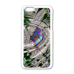 Water Ripple Design Background Wallpaper Of Water Ripples Applied To A Kaleidoscope Pattern Apple Iphone 6/6s White Enamel Case
