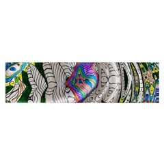 Water Ripple Design Background Wallpaper Of Water Ripples Applied To A Kaleidoscope Pattern Satin Scarf (oblong)