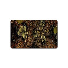 Wallpaper With Fractal Small Flowers Magnet (name Card)