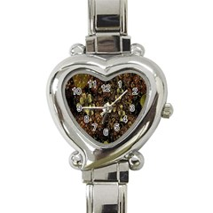 Wallpaper With Fractal Small Flowers Heart Italian Charm Watch