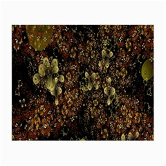Wallpaper With Fractal Small Flowers Small Glasses Cloth