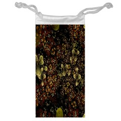Wallpaper With Fractal Small Flowers Jewelry Bag