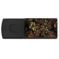 Wallpaper With Fractal Small Flowers Usb Flash Drive Rectangular (4 Gb)
