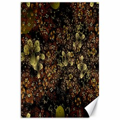 Wallpaper With Fractal Small Flowers Canvas 20  X 30