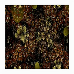 Wallpaper With Fractal Small Flowers Medium Glasses Cloth (2 Side)