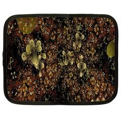 Wallpaper With Fractal Small Flowers Netbook Case (large)