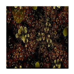Wallpaper With Fractal Small Flowers Face Towel