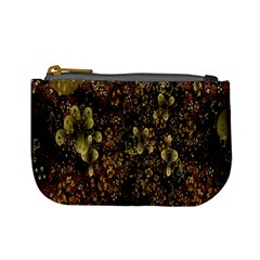 Wallpaper With Fractal Small Flowers Mini Coin Purses
