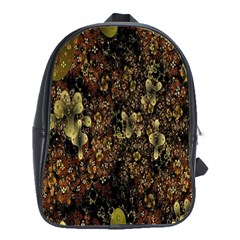 Wallpaper With Fractal Small Flowers School Bags(large)