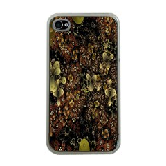Wallpaper With Fractal Small Flowers Apple iPhone 4 Case (Clear)