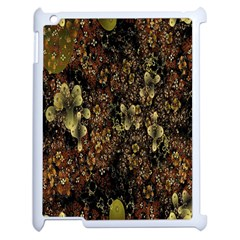 Wallpaper With Fractal Small Flowers Apple Ipad 2 Case (white)