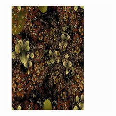 Wallpaper With Fractal Small Flowers Small Garden Flag (two Sides)