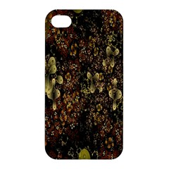 Wallpaper With Fractal Small Flowers Apple Iphone 4/4s Premium Hardshell Case