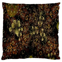 Wallpaper With Fractal Small Flowers Large Cushion Case (two Sides)