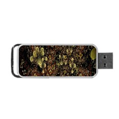 Wallpaper With Fractal Small Flowers Portable USB Flash (Two Sides)