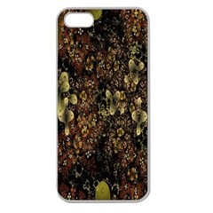 Wallpaper With Fractal Small Flowers Apple Seamless Iphone 5 Case (clear)