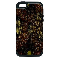 Wallpaper With Fractal Small Flowers Apple Iphone 5 Hardshell Case (pc+silicone)