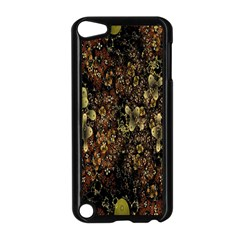 Wallpaper With Fractal Small Flowers Apple Ipod Touch 5 Case (black)